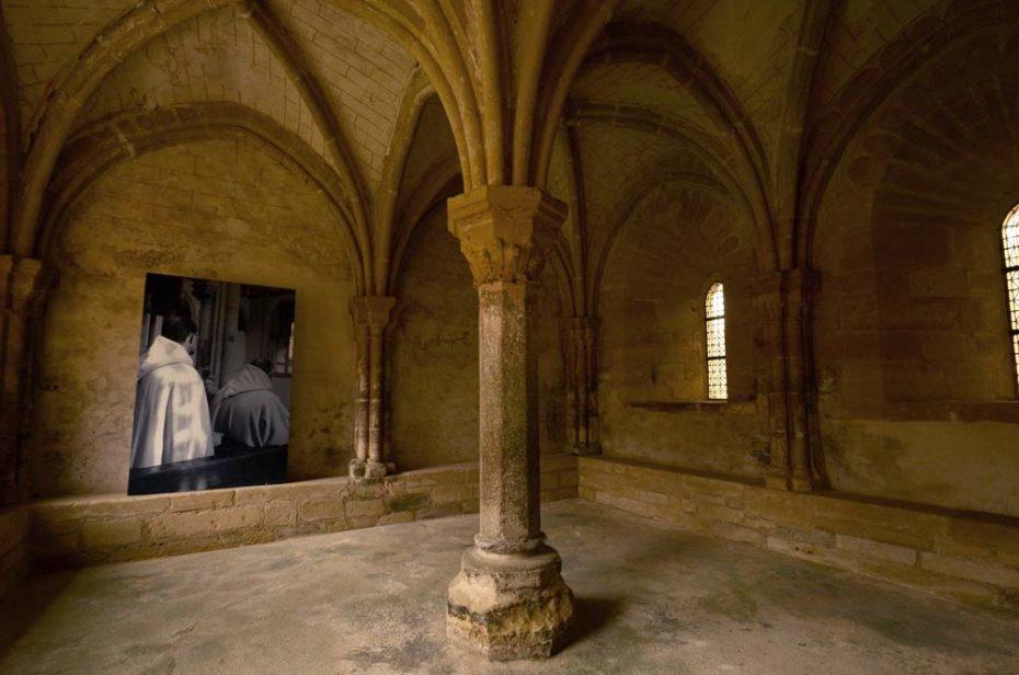 Le scriptorium, seul pièce chauffée du prieuré