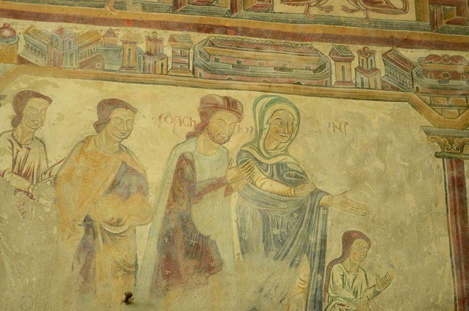L'Ancien Testament sur les fresques polychromes Pouzauges