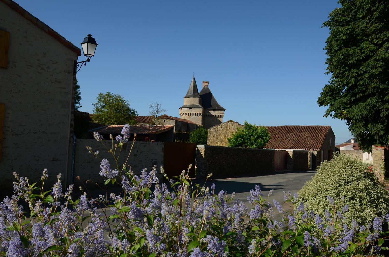 Chateau dans le bourg de Sigournais