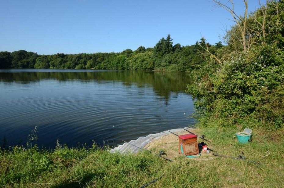 Pêche sur le lac de Rochereau