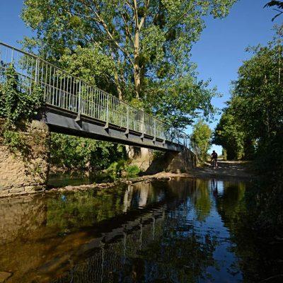 Passage à gué sur la Vendée Vélo entre Chantonnay et Bazoges