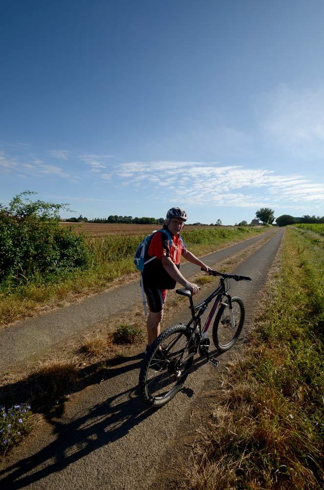 Route de la Morinière, montée vers Bazoges